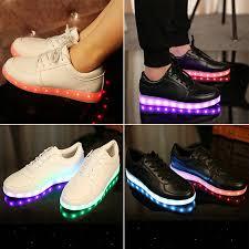 grown up light up shoes men women led light lace up luminous sportswear sneaker luminous
