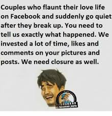 Facebook Memes About Love - couples who flaunt their love life on facebook and suddenly go quiet
