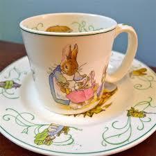 wedgwood rabbit tea set vintage wedgwood barlaston rabbit child s cup and plate