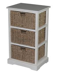 Seagrass Furniture Accent Storage Cabinet With Three Seagrass Basket Drawers Antique