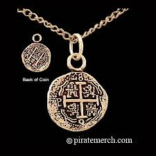 coin jewelry necklace images 14k gold pirates coin necklace piece of eight jpg