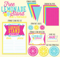 free lemonade stand signs u0026 printables by love the day