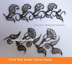floral border strip lace henna mehndi design tutorial youtube