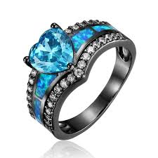 birthstone rings for black gold filled heart december cz birthstone ring wandr jewelry