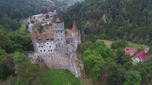 vlad the impaler castle bran castle romania aerial view 4k youtube