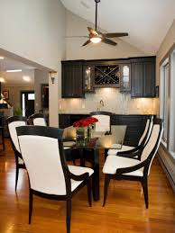 using globe chandelier and elegant decor transitional dining room