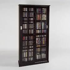 cd cabinet with doors wall units exellent walmart media storage double cd dvd wall media