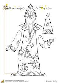 coloriage d u0027une marionnette articulée le magicien