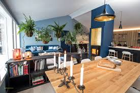 Cuisine Lambris - plan cuisine en i incroyable intérieur scandinave bleu cuisine