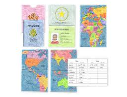 usa pretend passport art projects for kids