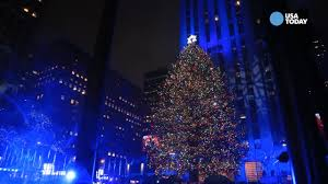 the 2016 rockefeller center tree lights up new york s