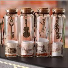 creative gifts mini clear glass cork stopper wishing bottles