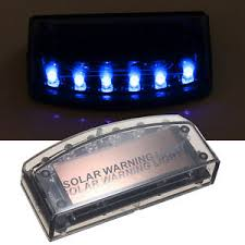 security led lights car solar car burglar alarm 6 led flashing warning light anti theft