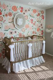 baby girl nursery hand painted floral wall mural rachel baby girl nursery hand painted floral wall mural