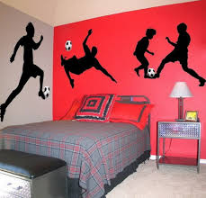 kids bedroom with soccer player murals ideas to create a soccer
