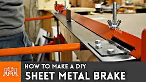 how to make a diy sheet metal brake youtube