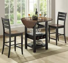 Espresso Bistro Table Bar Stools Small Bistro Table Indoor Counter Height With Storage