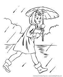 spring coloring pages kids umbrella coloring