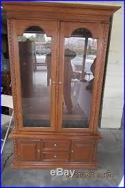 Glass Gun Cabinet Gun Cabinet Wood Display Key Lock Solid Tempered Glass Stores