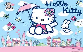 wallpaper hello kitty laptop hello kitty rain wallpaper baltana