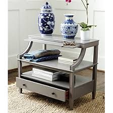 sidney side table with charging station ballard designs