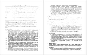 Non Disclosure Statement Template by Employee Non Disclosure Agreement Template Microsoft Word Templates