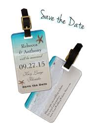 luggage tag save the date save the date with a tropical luggage tag