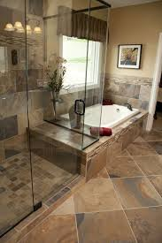 Bathroom Tile Shower Designs by Stone Tile Walk In Shower Design Kenwood Kitchens In Columbia