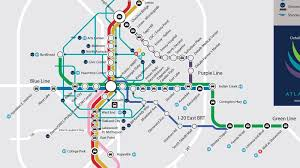 Atlanta Maps by Marta Atlanta Map Marta Line Map United States Of America