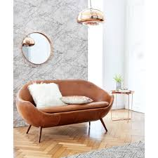 home canapé canapé en cuir cognac home run canapé maisons du monde iziva com