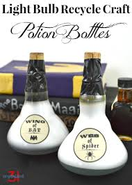 Halloween Recycled Crafts by Light Bulb Recycle Potion Bottle Organized 31
