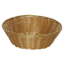 buy poly wicker round food basket by olympia model t363 from