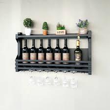 wine rack 36 long rustic wood wine rack shelf hanging stemware