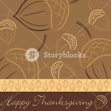 acorn thanksgiving card in vector format royalty free