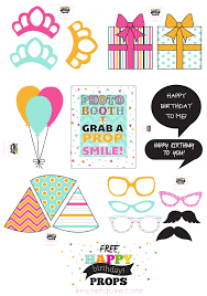 free printable photo booth props template birthday photo booth props and free printables