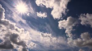 beautiful clouds and sun in summer day taymlaps stock footage