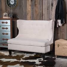 shop best selling home decor taryn rustic pale sand linen settee