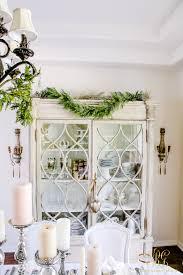 Christmas Dining Room Decorations Elegant White And Gold Christmas Dining Room And Table Scape
