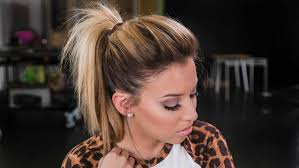 ponytail bump wedding braid into side emilyus ponytail hairstyle with