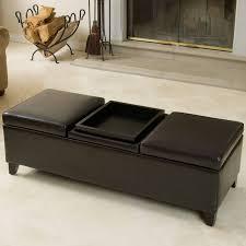 coffee table astounding black leather ottoman coffee table design
