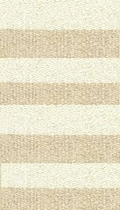 hampton 4 inch stripe indoor outdoor pvc rug beige 6463 cream