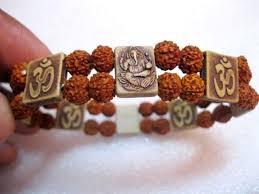 bracelet bands ebay images Ganesha aum om rudraksha rudraksh bracelet yoga meditation japa jpg