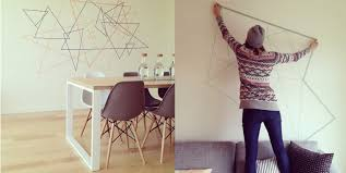 Washi Tape Wall by Vancouver Designer Shows How To Work The Wall Decal