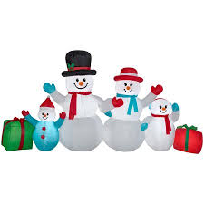 outdoor snowman decorations