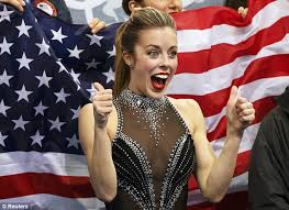 figure skater ashley wagner s smile turns to disgust after sochi
