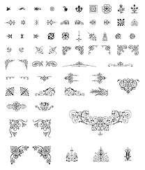 roundup of free vintage ornament floral vectors