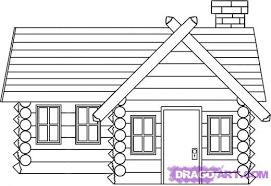 log cabin drawings learn how to draw a log cabin house buildings landmarks places