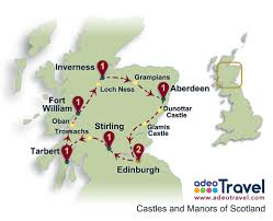 map of glamis castle tidal treasures