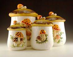 Decorative Kitchen Canisters Sets by Vintage Glass Canisters Set Of 4 Amethyst Purple Glass Kitchen