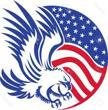 Eagles Flag Best Drawn Bald Eagle Flag Clip Art Photos Vector Images Stocks